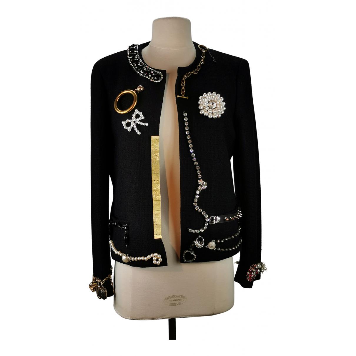 Moschino N Black Wool jacket for Women 44 IT