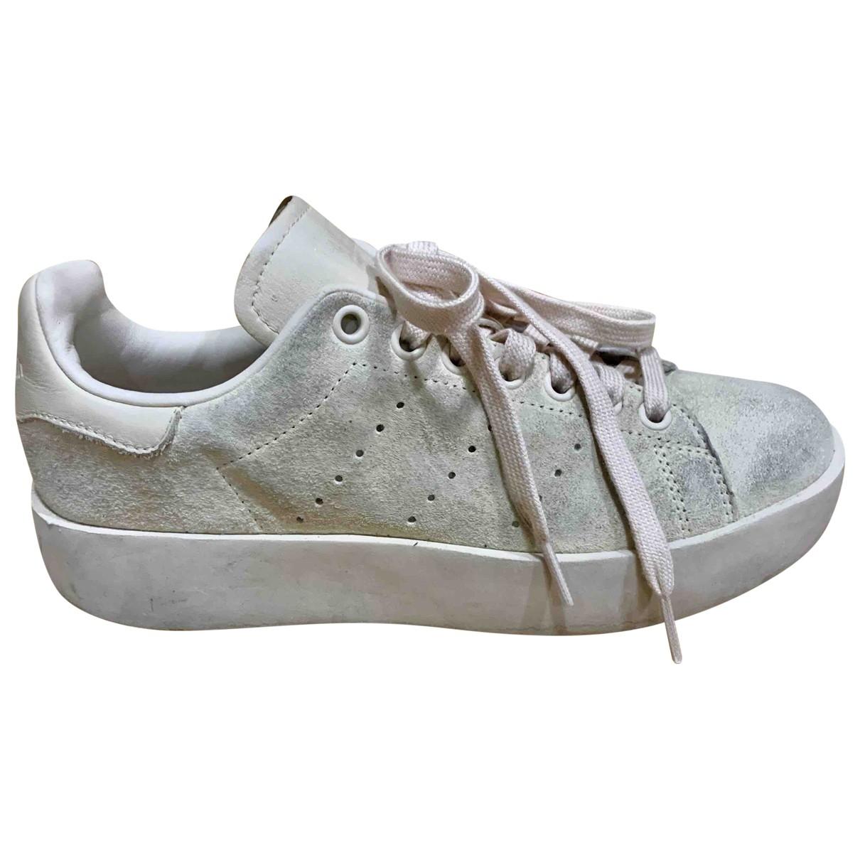 Adidas - Baskets Stan Smith pour femme en suede - rose