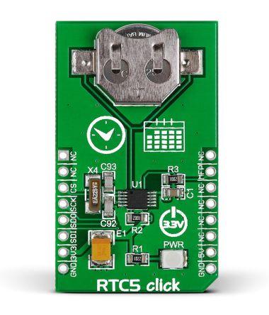 MikroElektronika MIKROE-1990, RTC5 Real Time Clock (RTC) mikroBus Click Board for MCP79510