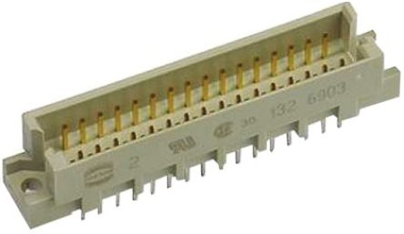 HARTING , 09 28 48 Way 2.54mm Pitch, Type 2R Class C2, 3 Row, Straight DIN 41612 Connector, Plug