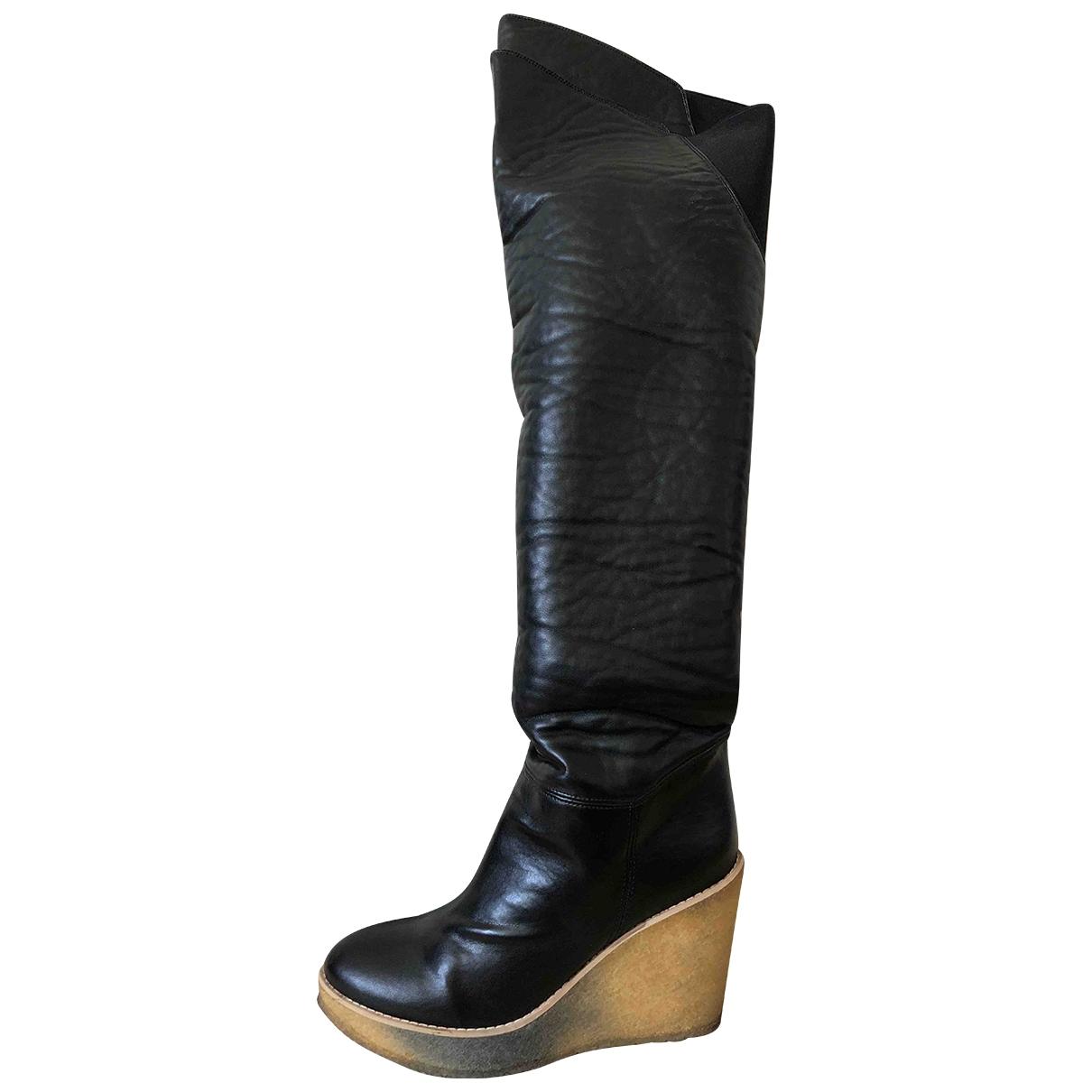 Stella Mccartney \N Black Cloth Boots for Women 40 EU