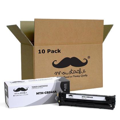 Compatible HP 125A CB540A Black Toner Cartridge - Moustache - 10/Pack