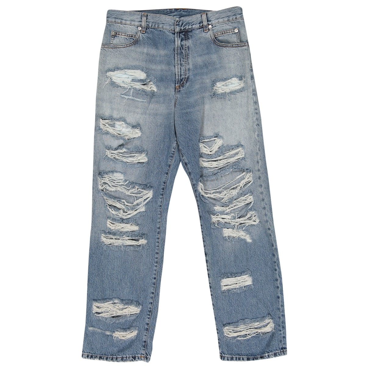 Balmain \N Blue Cotton Jeans for Men 31 US