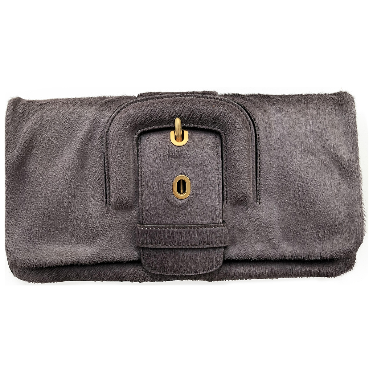 Tod's \N Grey Pony-style calfskin Clutch bag for Women \N