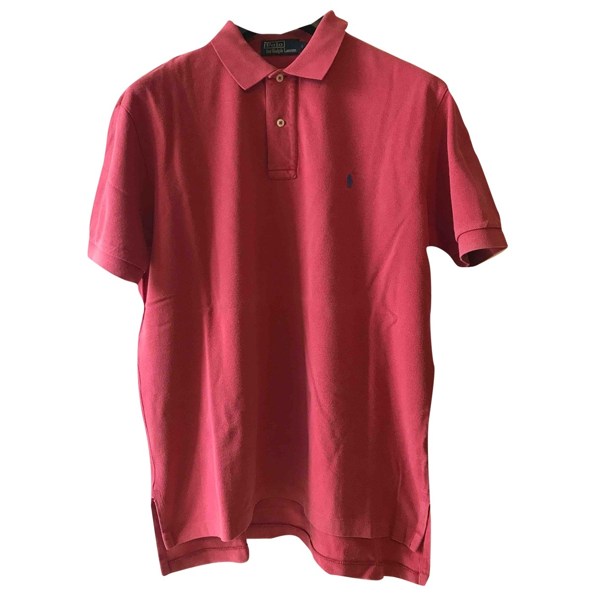 Polo Ralph Lauren Polo ajusté manches courtes Pink Cotton Polo shirts for Men L International