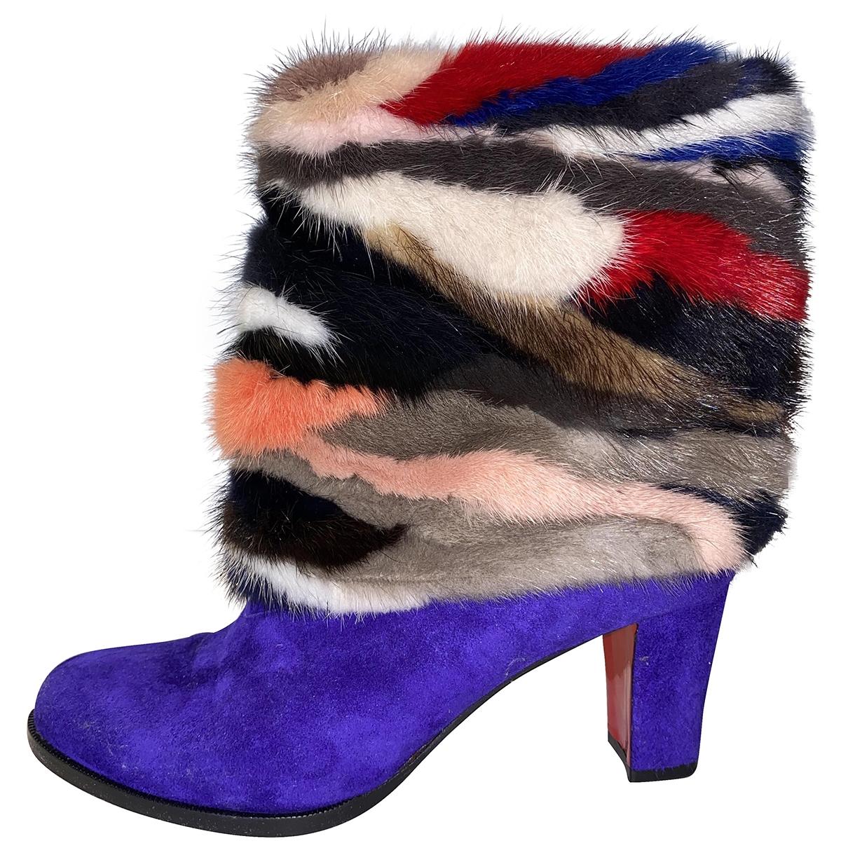 Christian Louboutin - Boots   pour femme en vison - multicolore