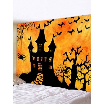 Halloween Night Castle Print Tapestry Wall Hanging Art Decoration