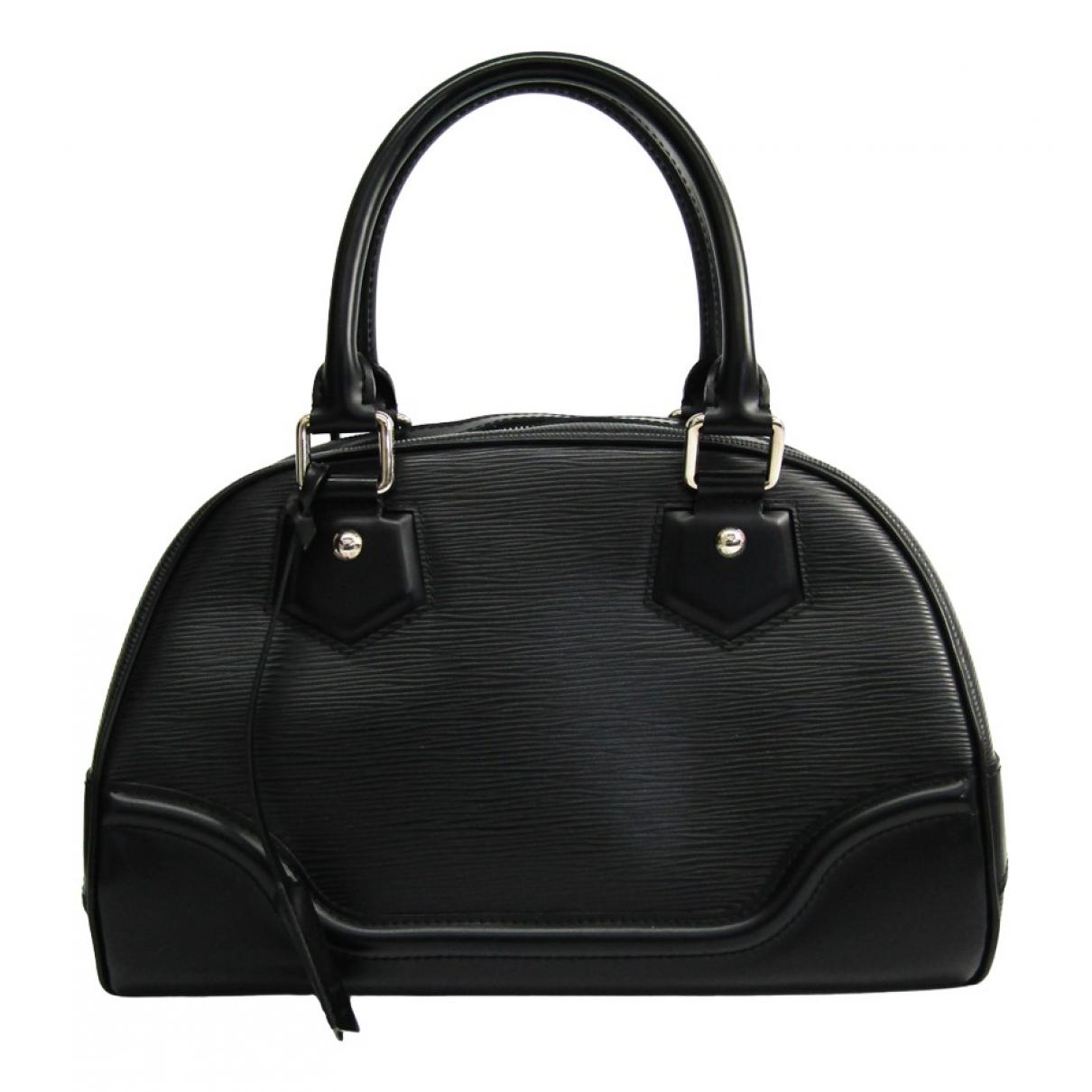 Louis Vuitton - Sac a main Montaigne Vintage  pour femme en cuir - noir