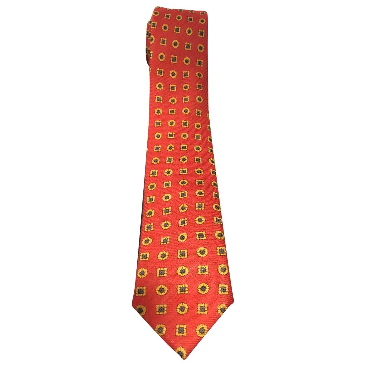 Pedro Del Hierro \N Krawatten in  Rot Wolle