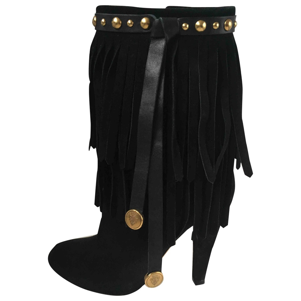 Gucci \N Black Suede Ankle boots for Women 36.5 EU