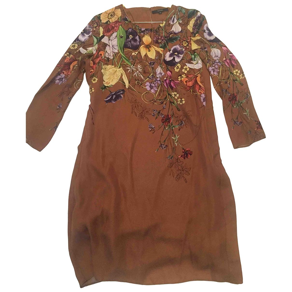 Gucci - Robe   pour femme en soie - marron