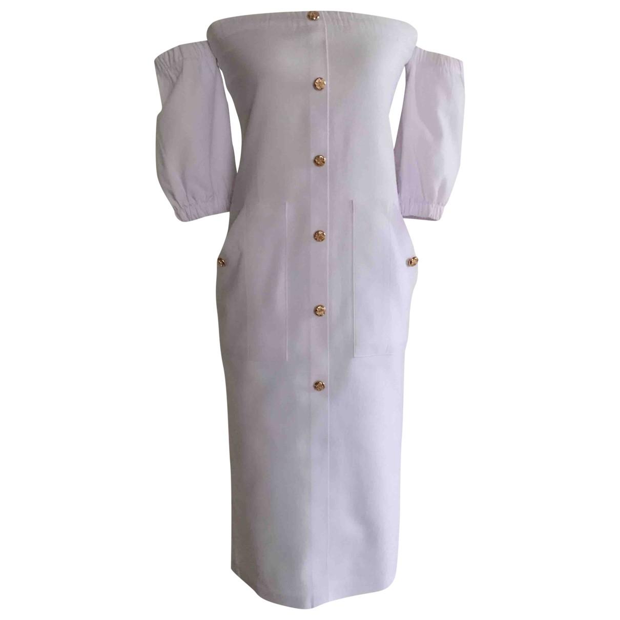 Non Signé / Unsigned \N Ecru Cotton - elasthane dress for Women S International