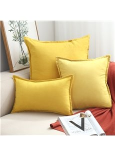 Super Soft Deerskin Suede Throw Pillow 13 Colors Optional