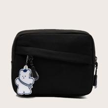 Minimalist Crossbody Bag With Bag Charm