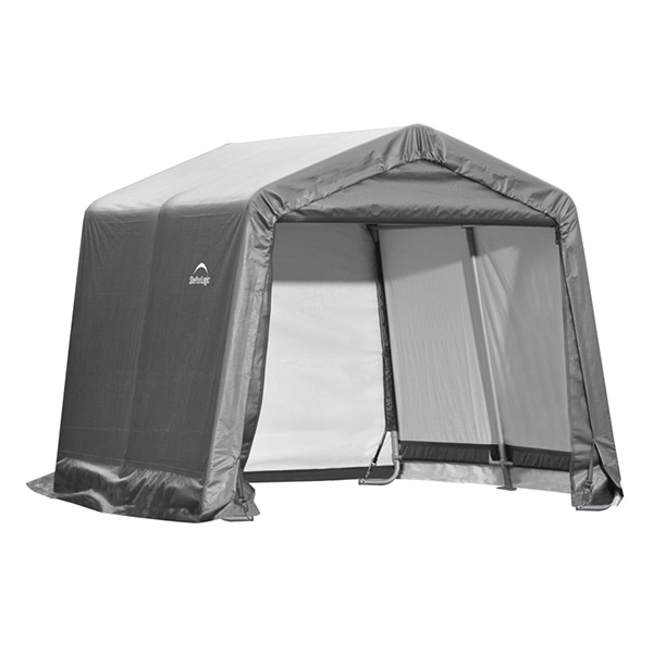Shed-in-a-Box 10' x 10' x 8', Peak Style, Gray