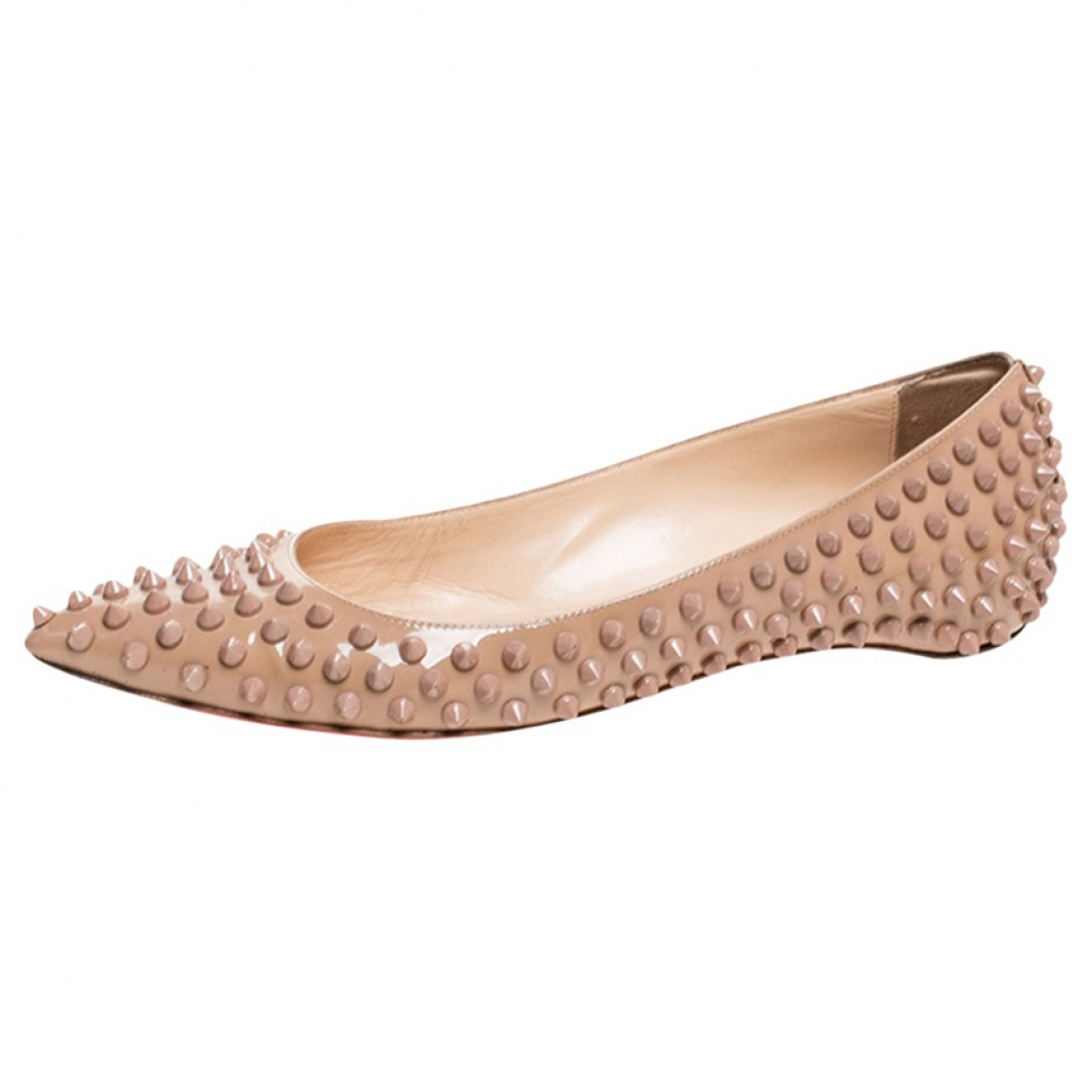 Christian Louboutin \N Beige Patent leather Ballet flats for Women 7 US