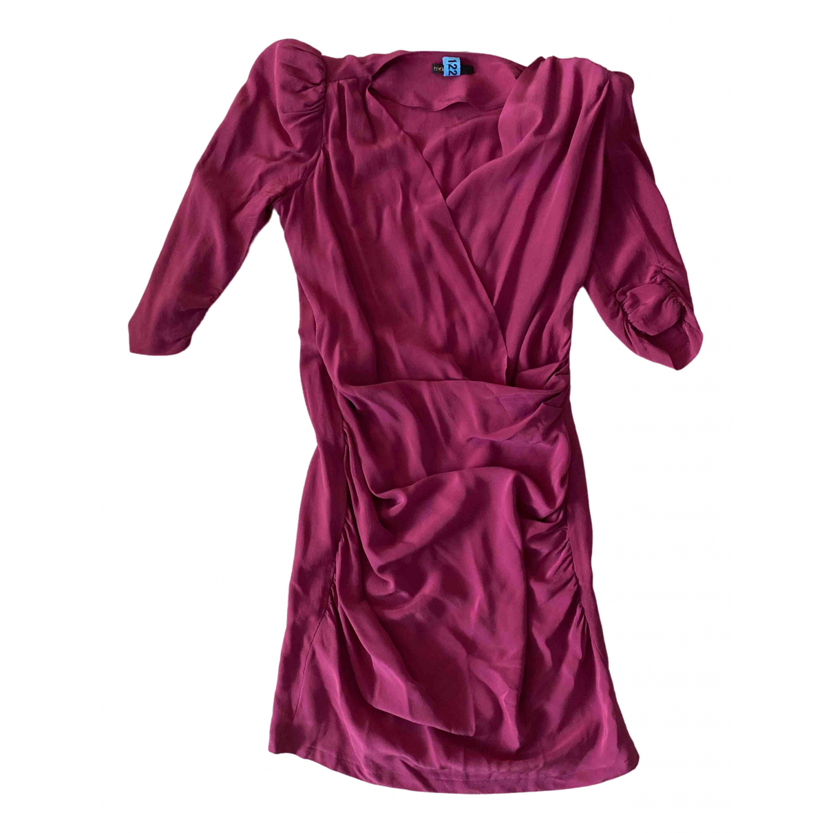 Maje \N Pink Silk dress for Women 38 FR