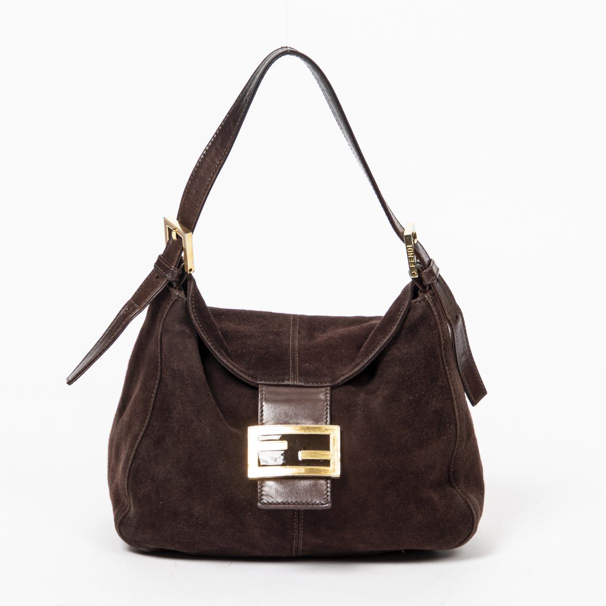 Fendi Mamma Baguette  Handtasche in  Braun Leder