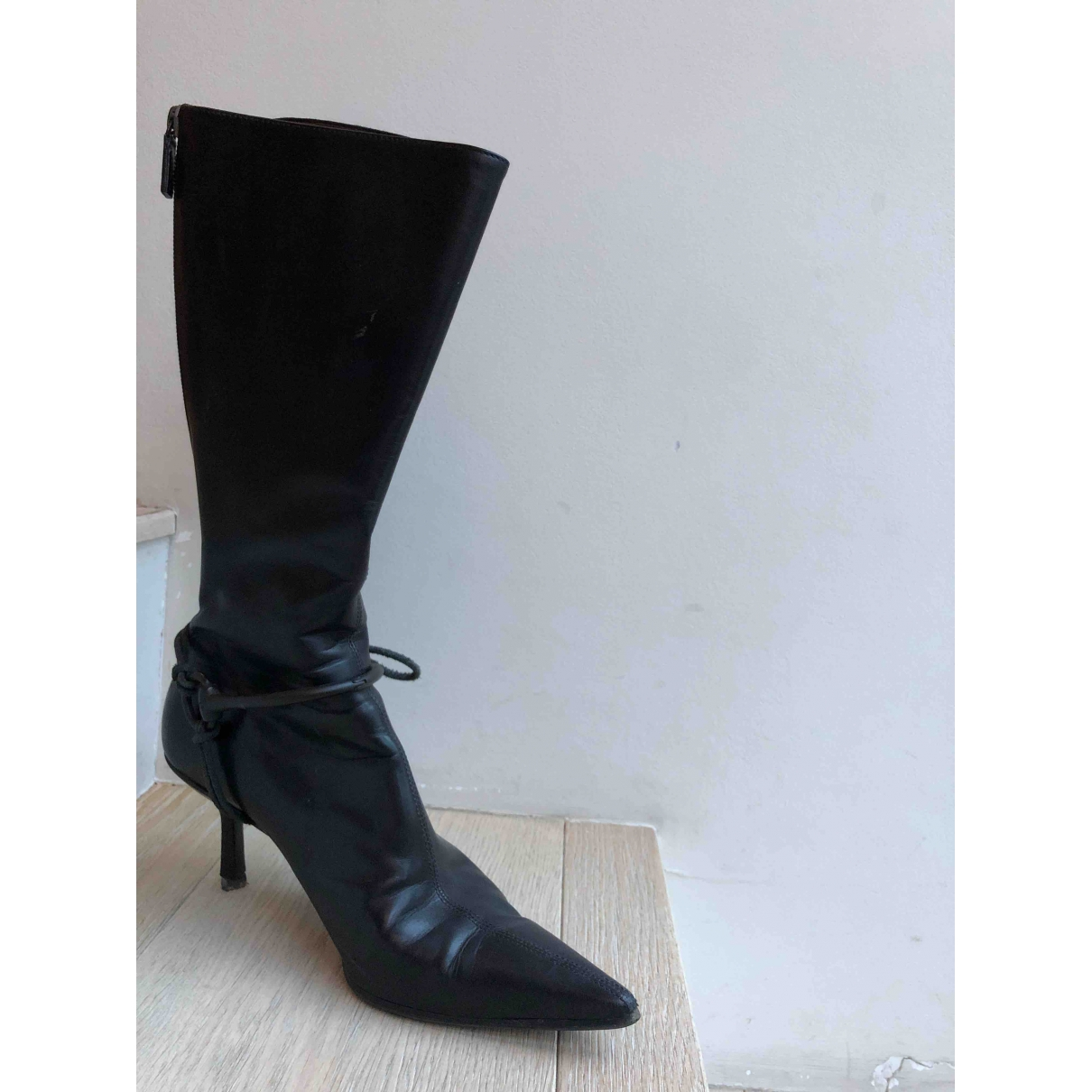 Gucci \N Black Leather Boots for Women 36.5 EU