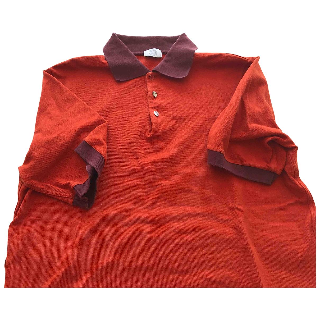 Hermes - Polos   pour homme en coton - orange