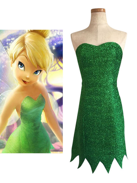 Milanoo Disney Tinker Bell Dress Disfraz de Cosplay Halloween