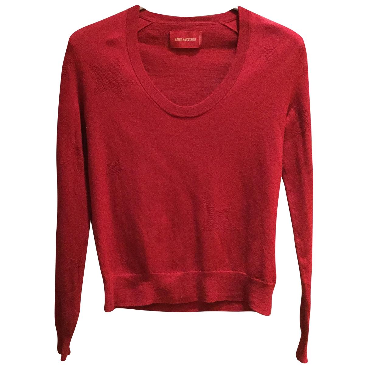 Zadig & Voltaire - Pull   pour femme en laine - rouge