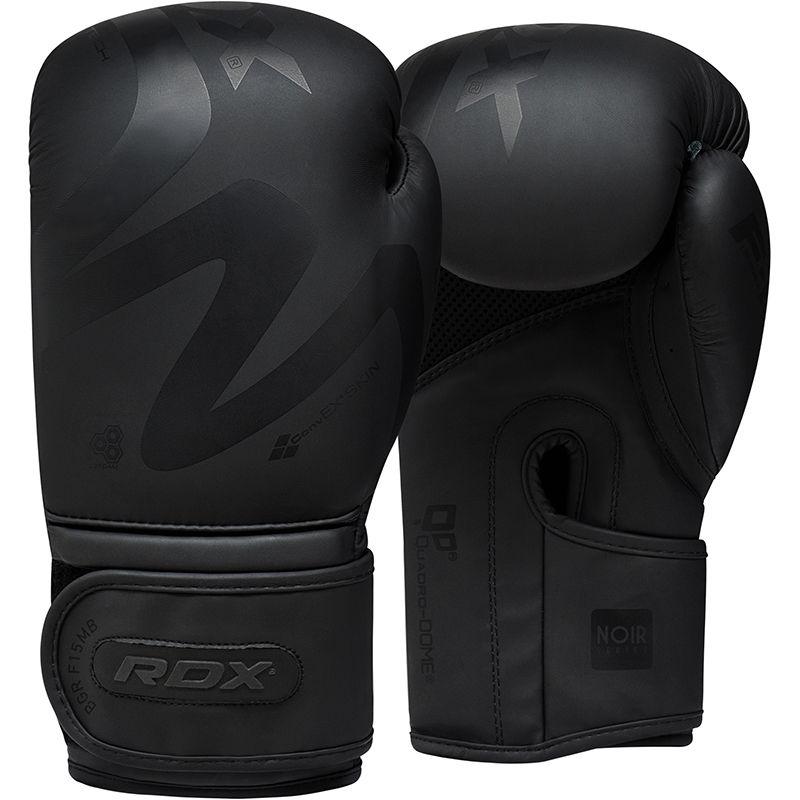 RDX F15 Noir Boxing Training Gloves in Black