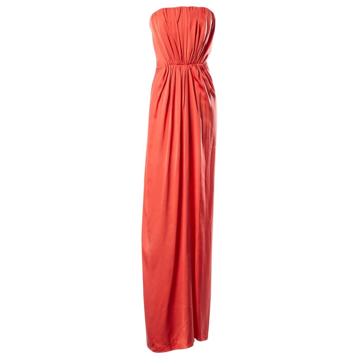 Yves Saint Laurent \N Orange Silk dress for Women 36 FR