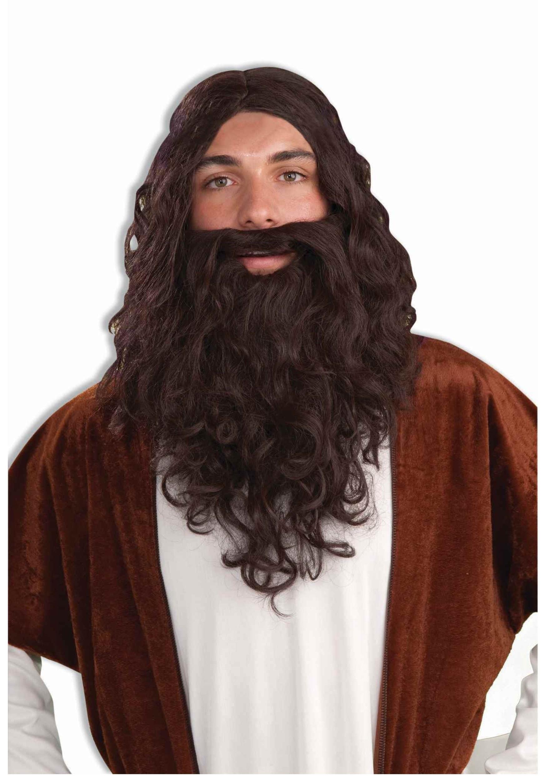 Men's Biblical Wig and Beard Set