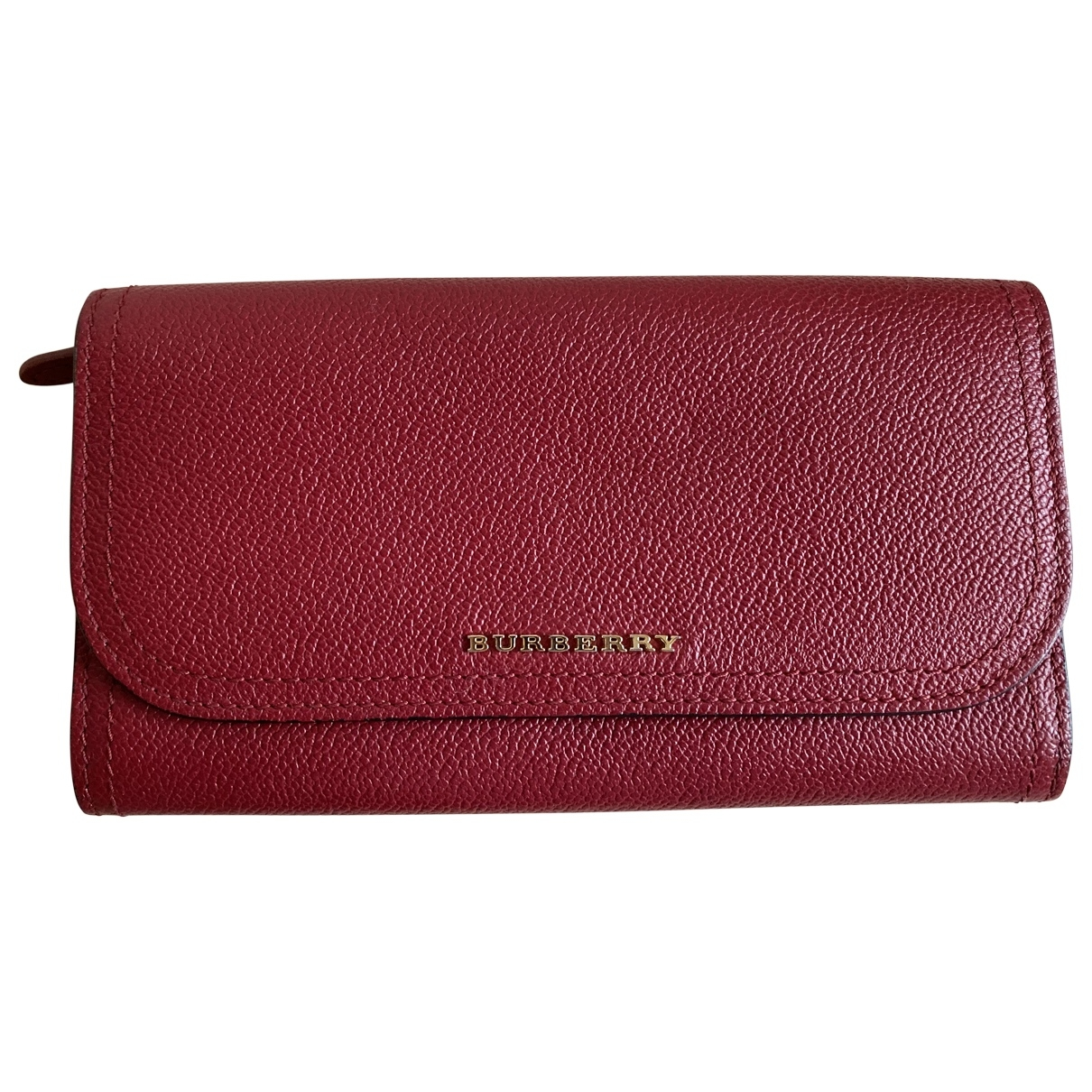 Burberry \N Red Leather Purses, wallet & cases for Women \N