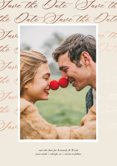 Save the Date 5x7 Cards, Standard Cardstock 85lb, Card & Stationery -Marvelous Matrimony Save The Date
