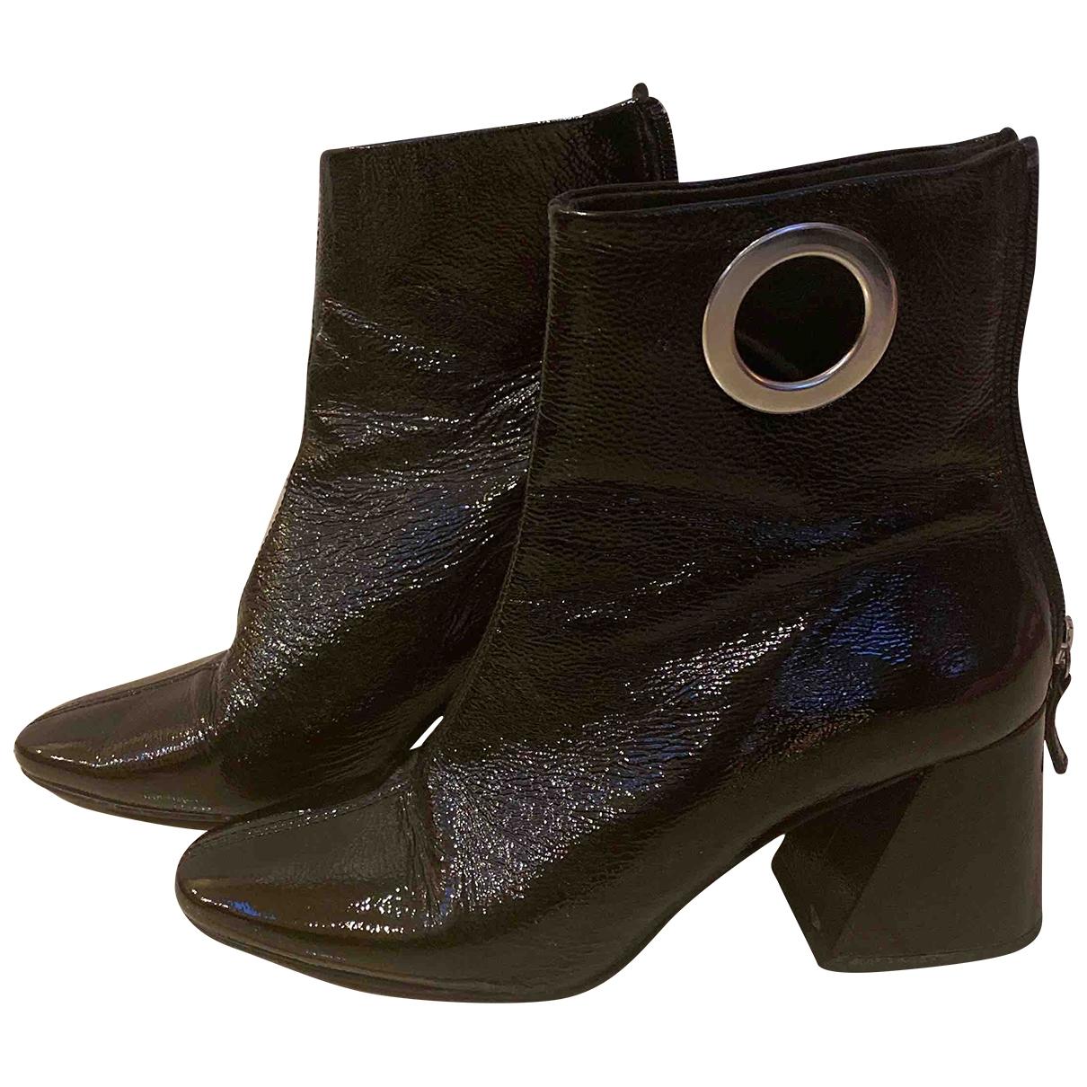 Tophop \N Stiefel in  Schwarz Lackleder