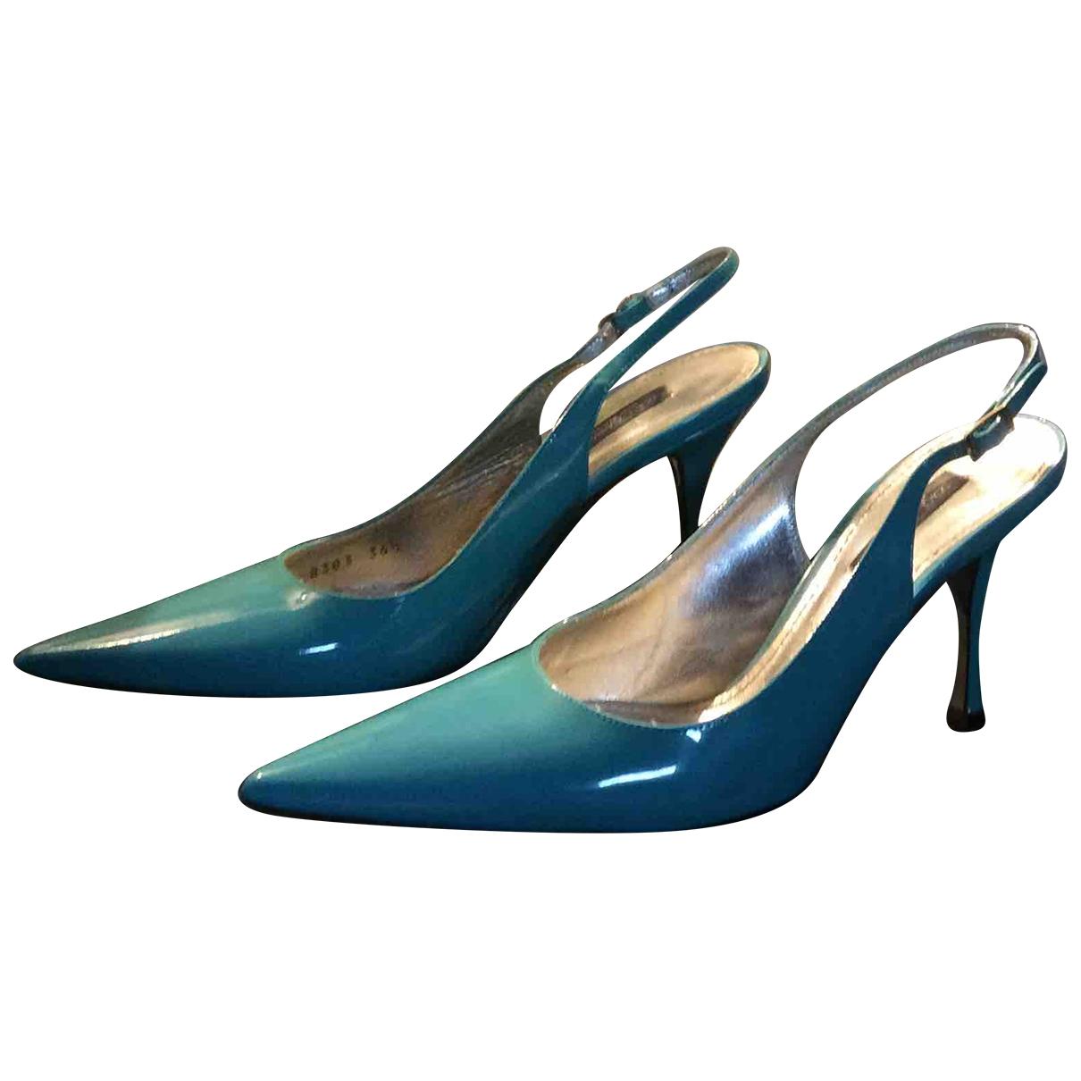 Dolce & Gabbana - Escarpins   pour femme en cuir - turquoise