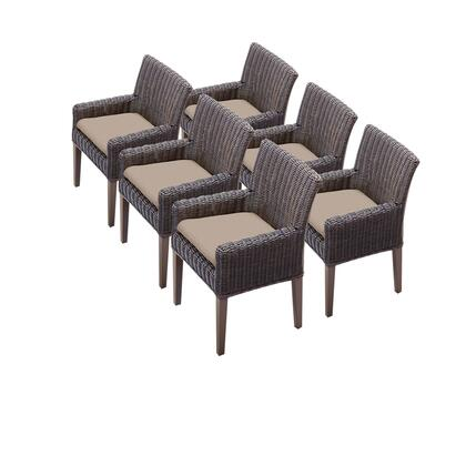 TKC099b-DC-3x-C 6 Venice Dining Chairs With Arms with 1 Cover in