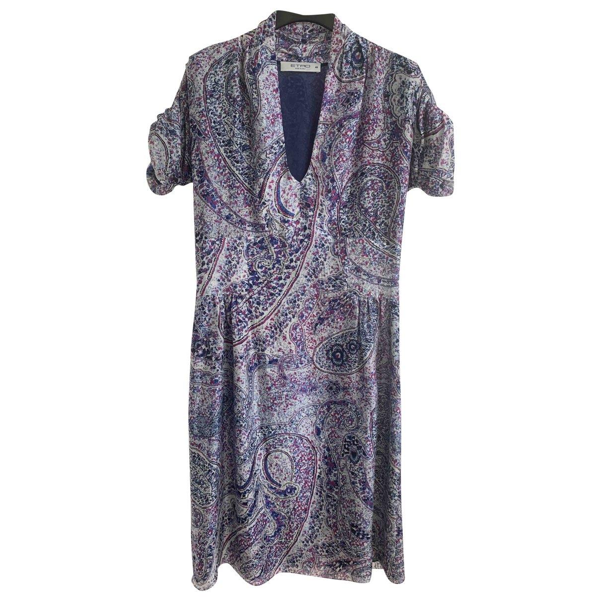 Etro \N Kleid in  Blau Seide