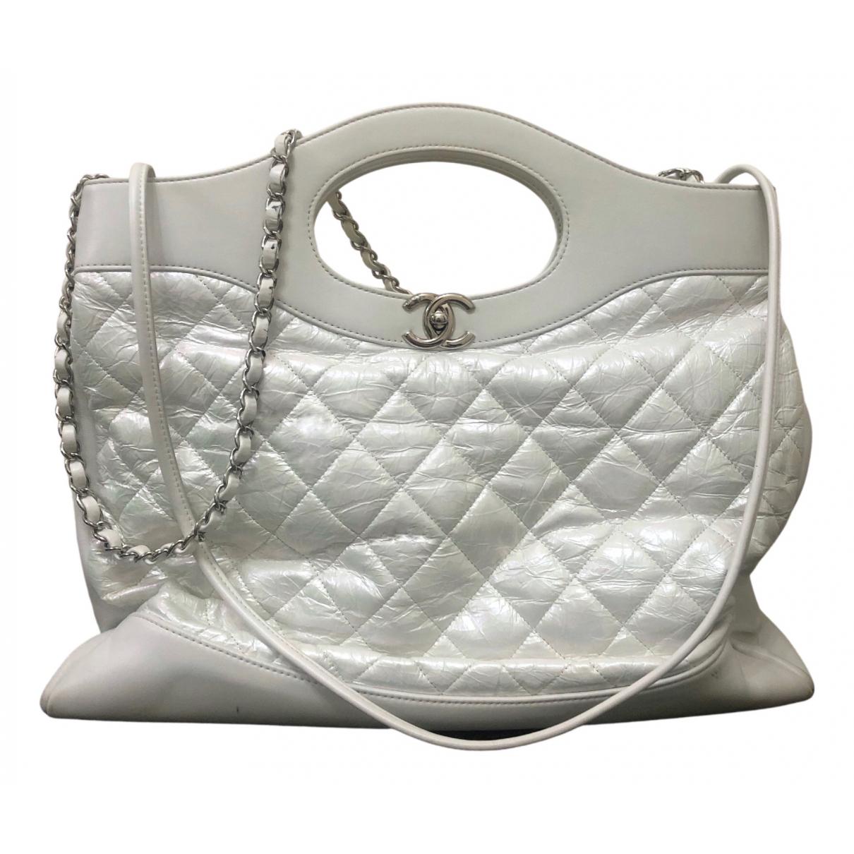 Chanel - Sac a main 31 pour femme en cuir - blanc