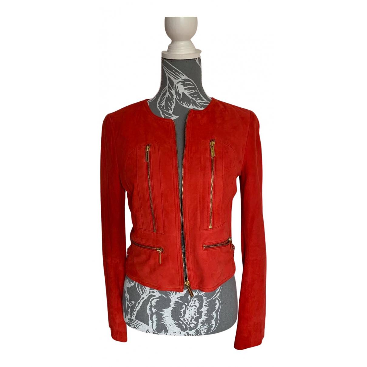 Michael Kors - Veste   pour femme en suede - rouge