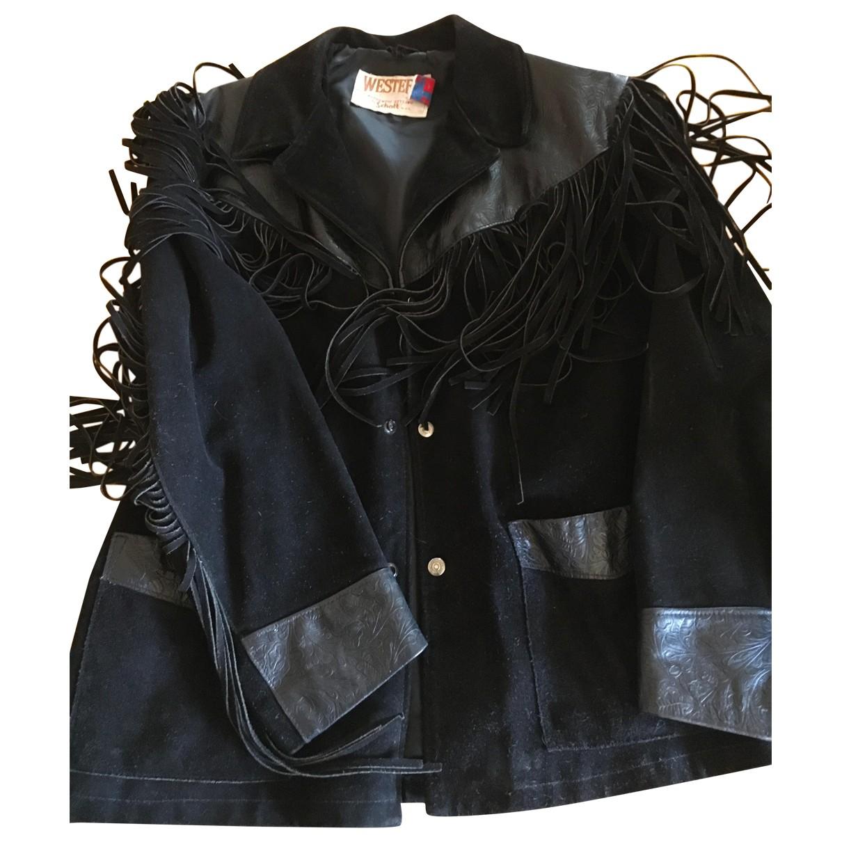 Schott \N Jacke in  Schwarz Leder
