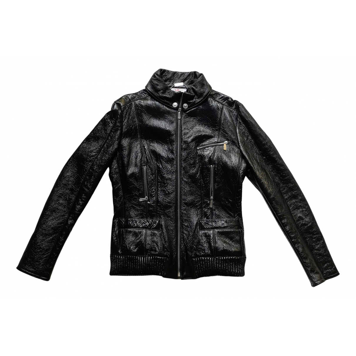 Versace Jeans N Black Leather coat for Women L International