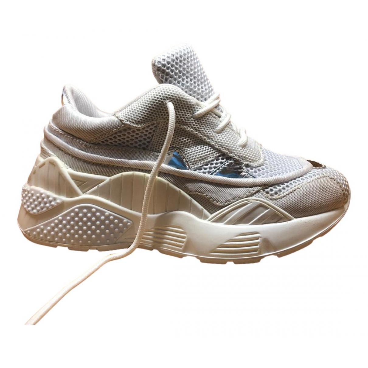 Jeffrey Campbell \N Sneakers in  Weiss Leinen