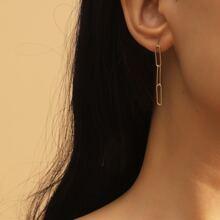 Minimalist Chain Link Earrings