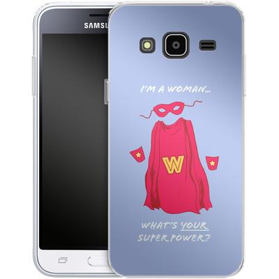 Samsung Galaxy J3 (2016) Silikon Handyhuelle - Superpower von caseable Designs