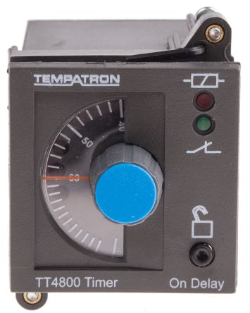 Tempatron DP-NO/NC Timer Relay - 6 s → 6 h, 2 Contacts, ON Delay Energise, Panel Mount, Plug In