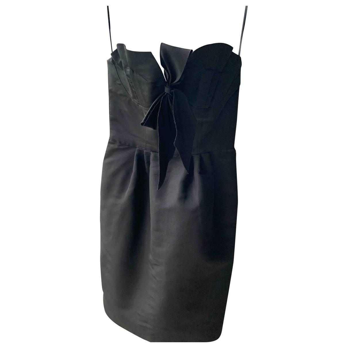 Oscar De La Renta \N Black Silk dress for Women 4 0-5
