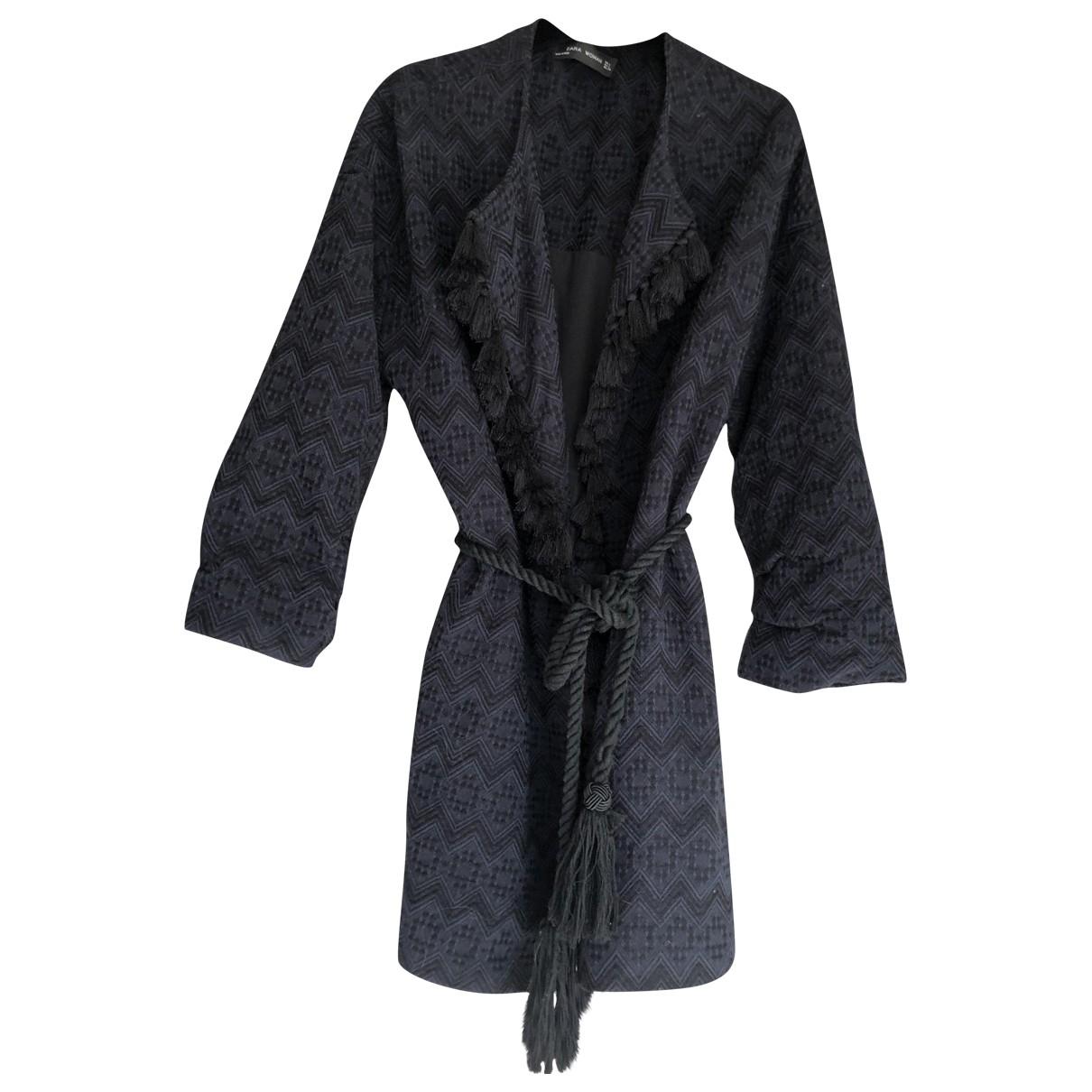 Zara \N Pullover in  Marine Polyester