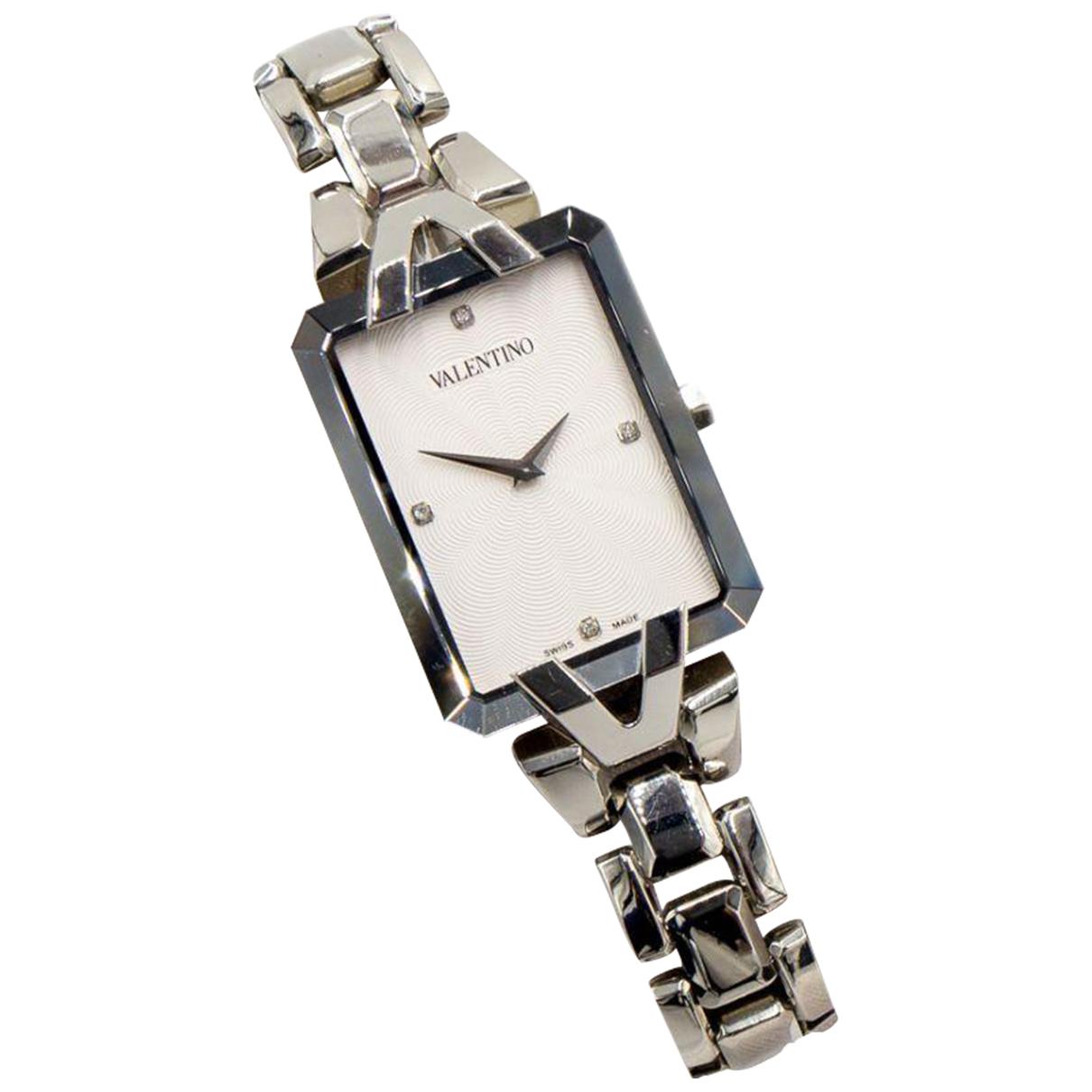 Valentino Garavani \N Uhr in  Silber Stahl