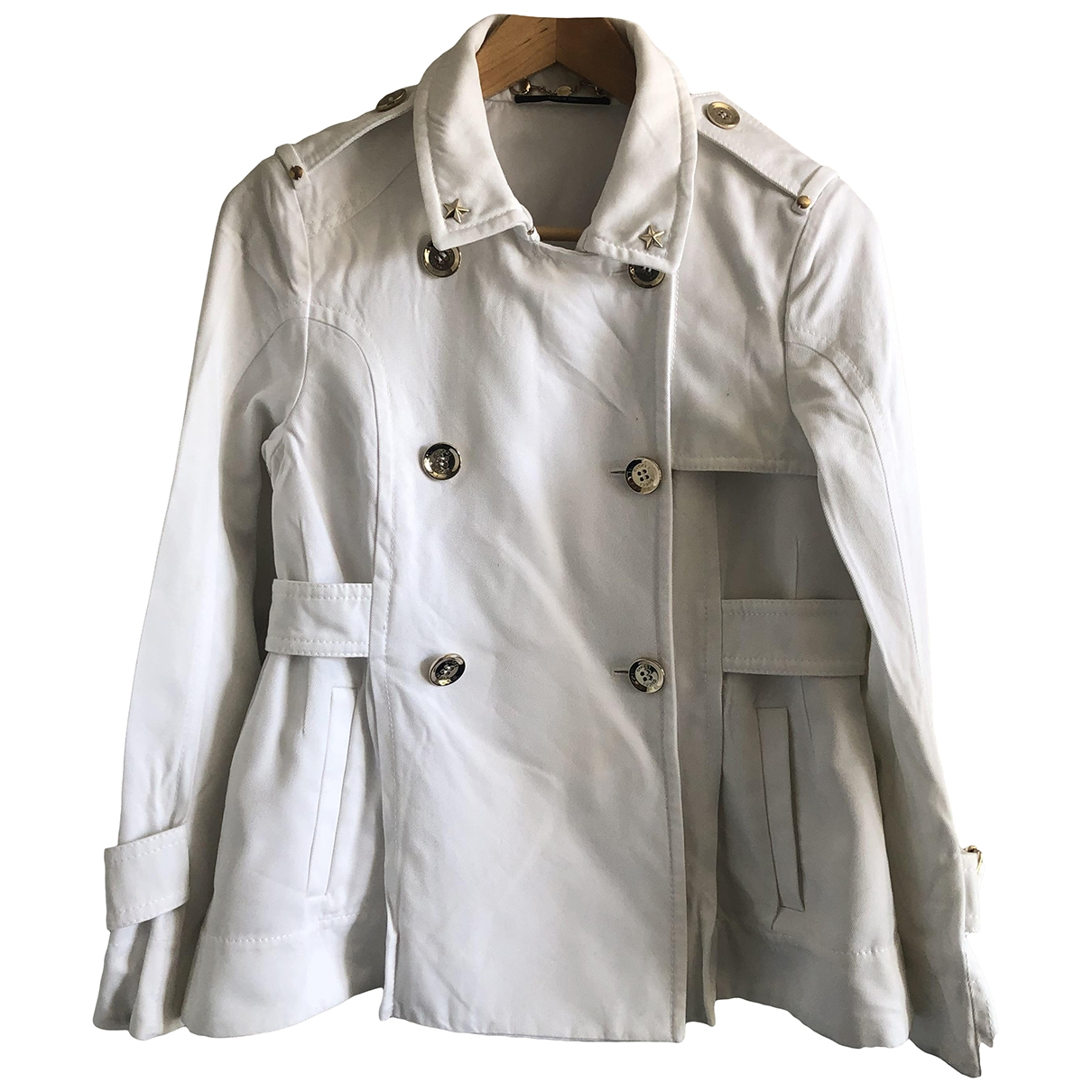 Gucci \N White Cotton jacket for Women 42 IT