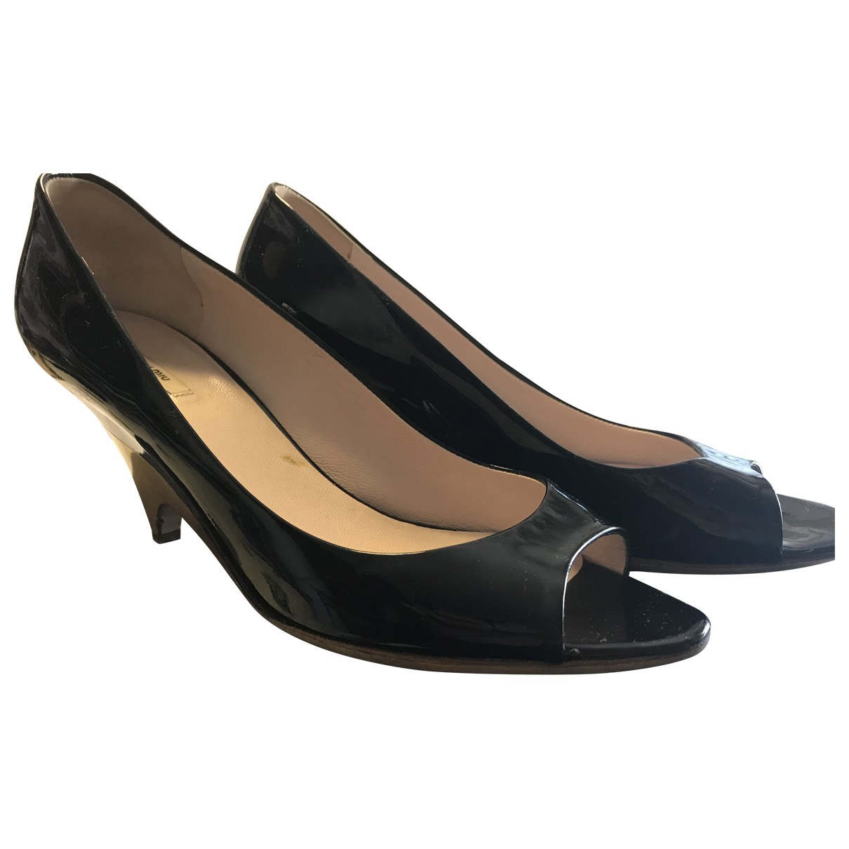 Prada \N Black Patent leather Heels for Women 37 IT
