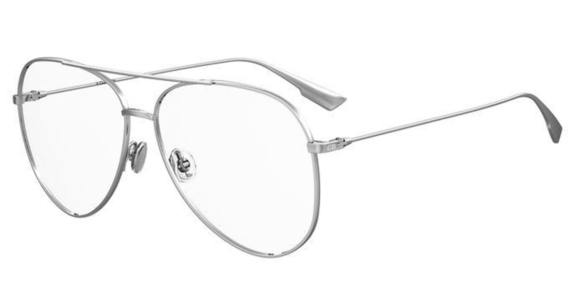 Dior STELLAIREO17 010 Men's Glasses Silver Size 58 - Free Lenses - HSA/FSA Insurance - Blue Light Block Available