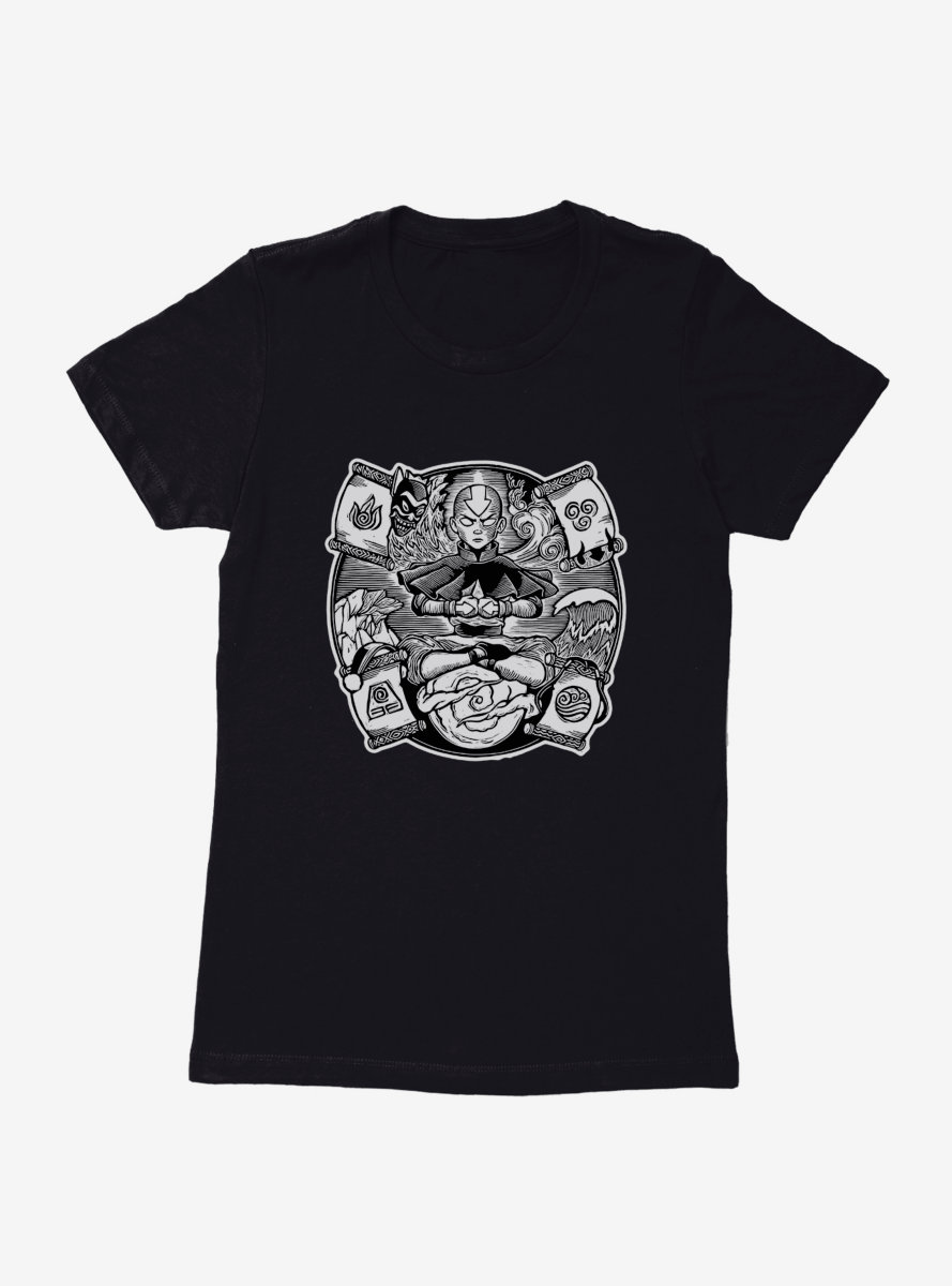Avatar: The Last Airbender Master Of The Elements Aang Womens T-Shirt - BoxLunch Exclusive